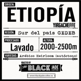 CAFE ARÁBICO ETIOPIA YIRGACHEFFE