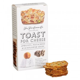 TOAST FOR CHEESE APRICOTS, PISTACHOS, SUNFLOWERS, SEEDS THE FINE CHEESE LO