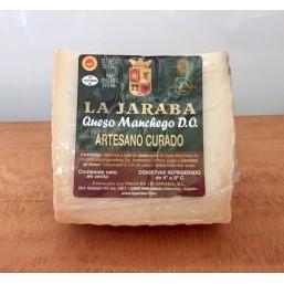 QUESO ARTESANO CURADO PAGO DE LA JARABA, CUÑA 750g aprox.