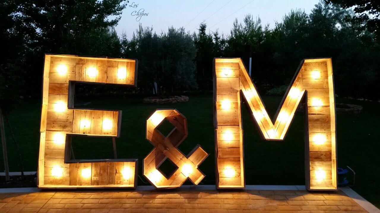 7 letras iluminadas