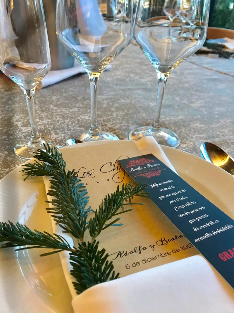 una boda muy navideña detalle mesa minuta