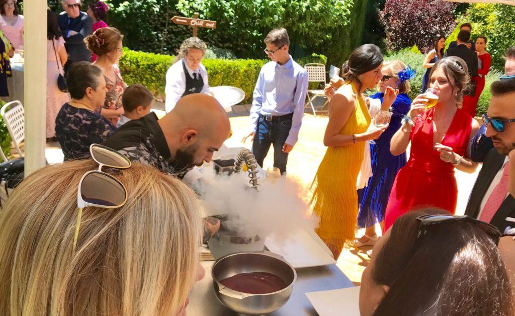 amor en la boda cocina molecular