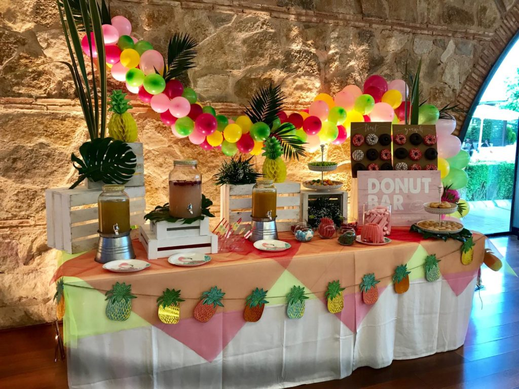 amor y color buffet de chuches