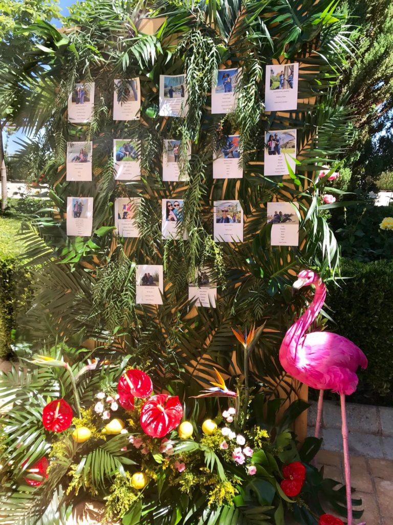amor en la boda seating plan