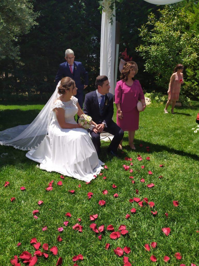 boda muy especial los novios
