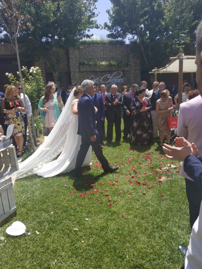 boda muy especial paseíllo nupcial