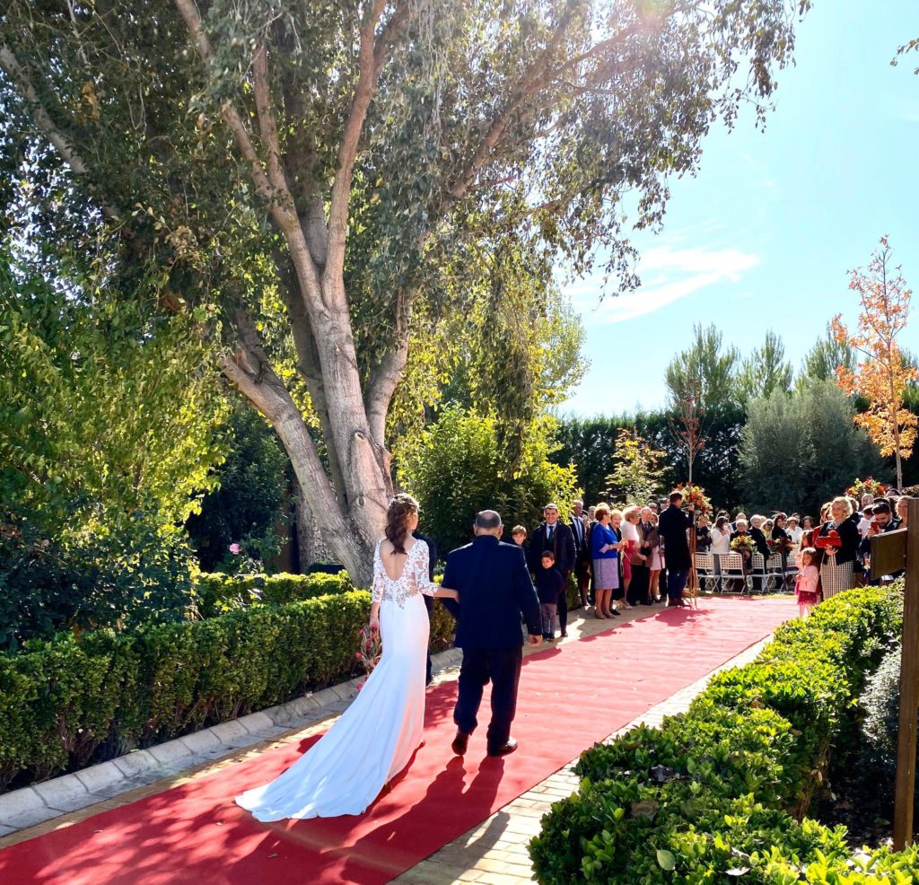 una boda con colores otoñales