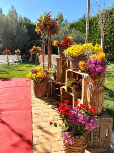 espacios de flores de boda