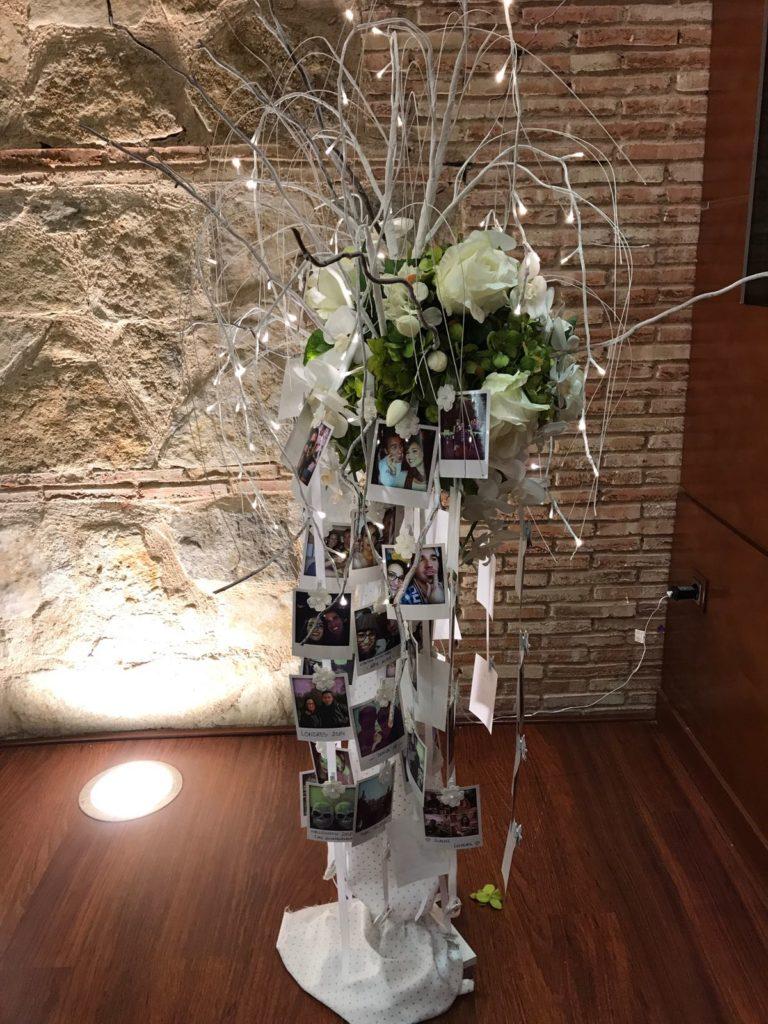 boda de altos vuelos árbol de fotos