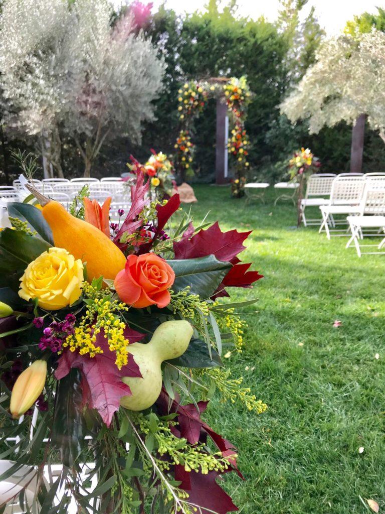 una boda llena de calabazas