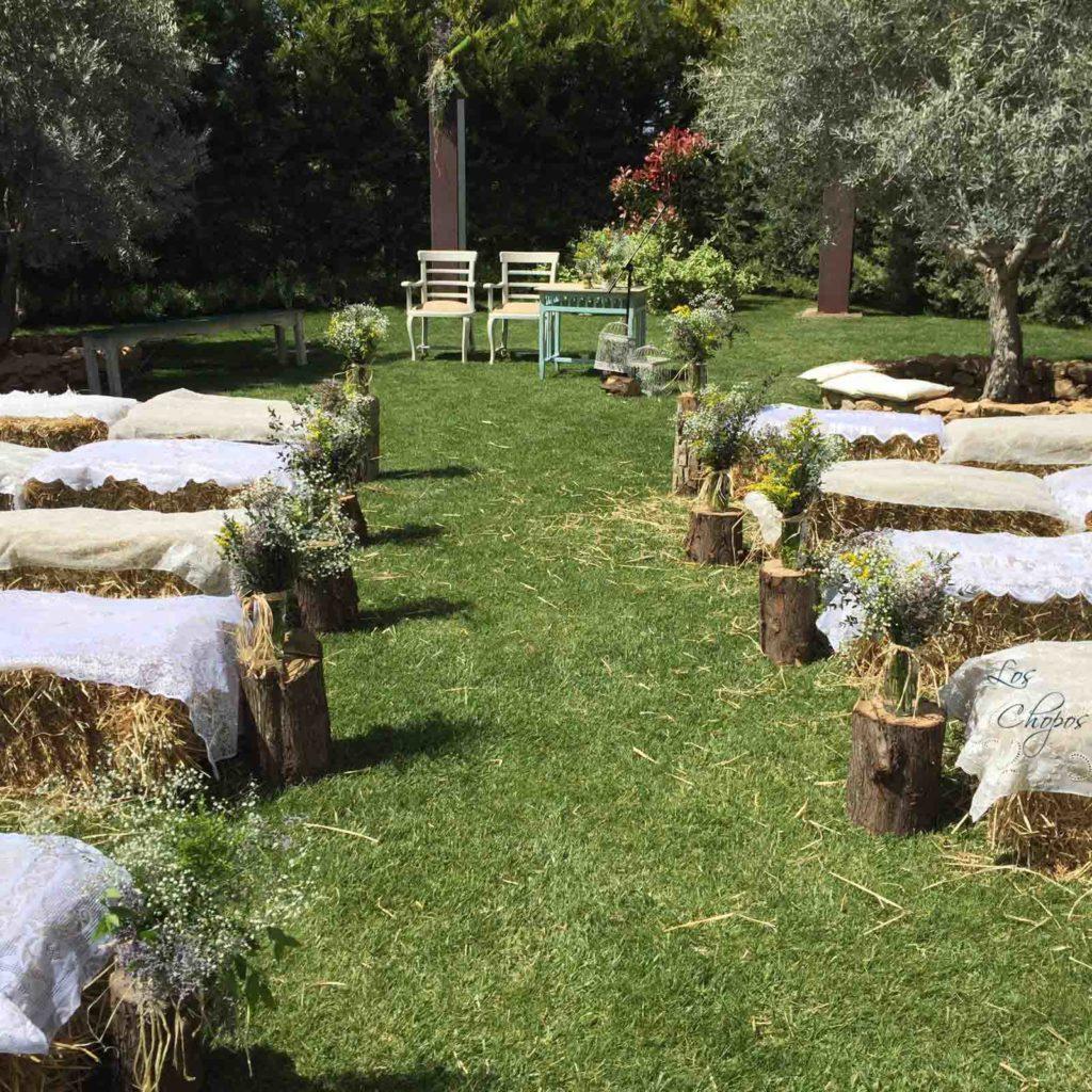 boda rural alpacas de paja