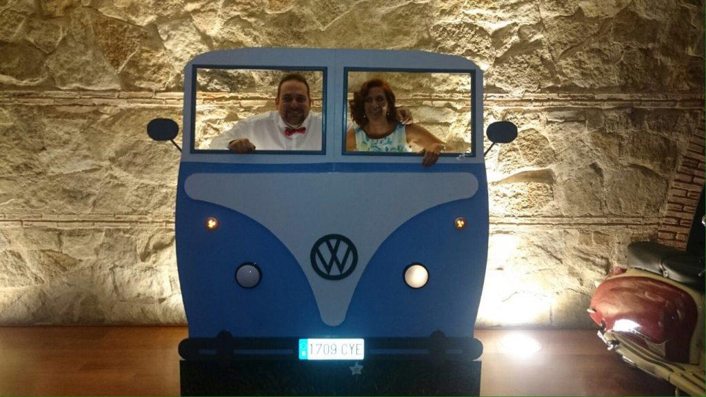 una boda con identidad photocall
