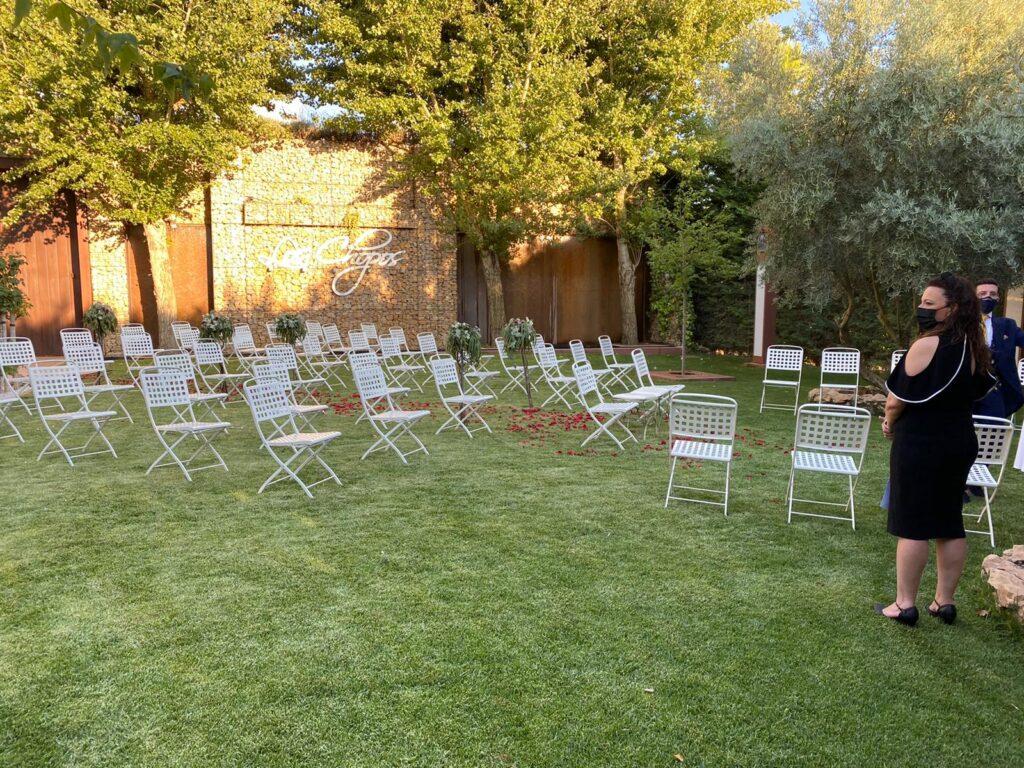 una boda rociera video separación sillas