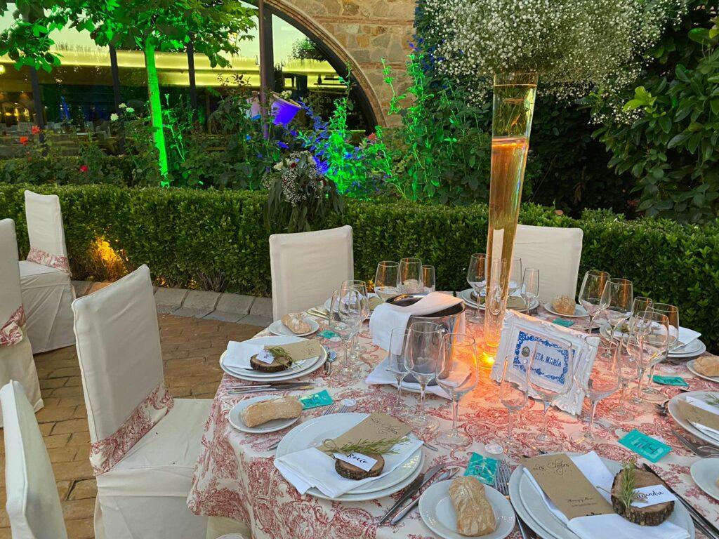 una boda mesa