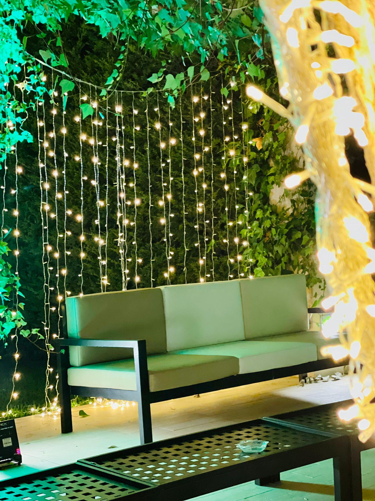 iluminación en la boda